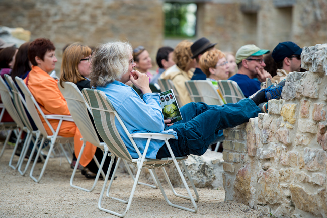 Audience enjoying SIR's Comedy of Errors at the Ruins