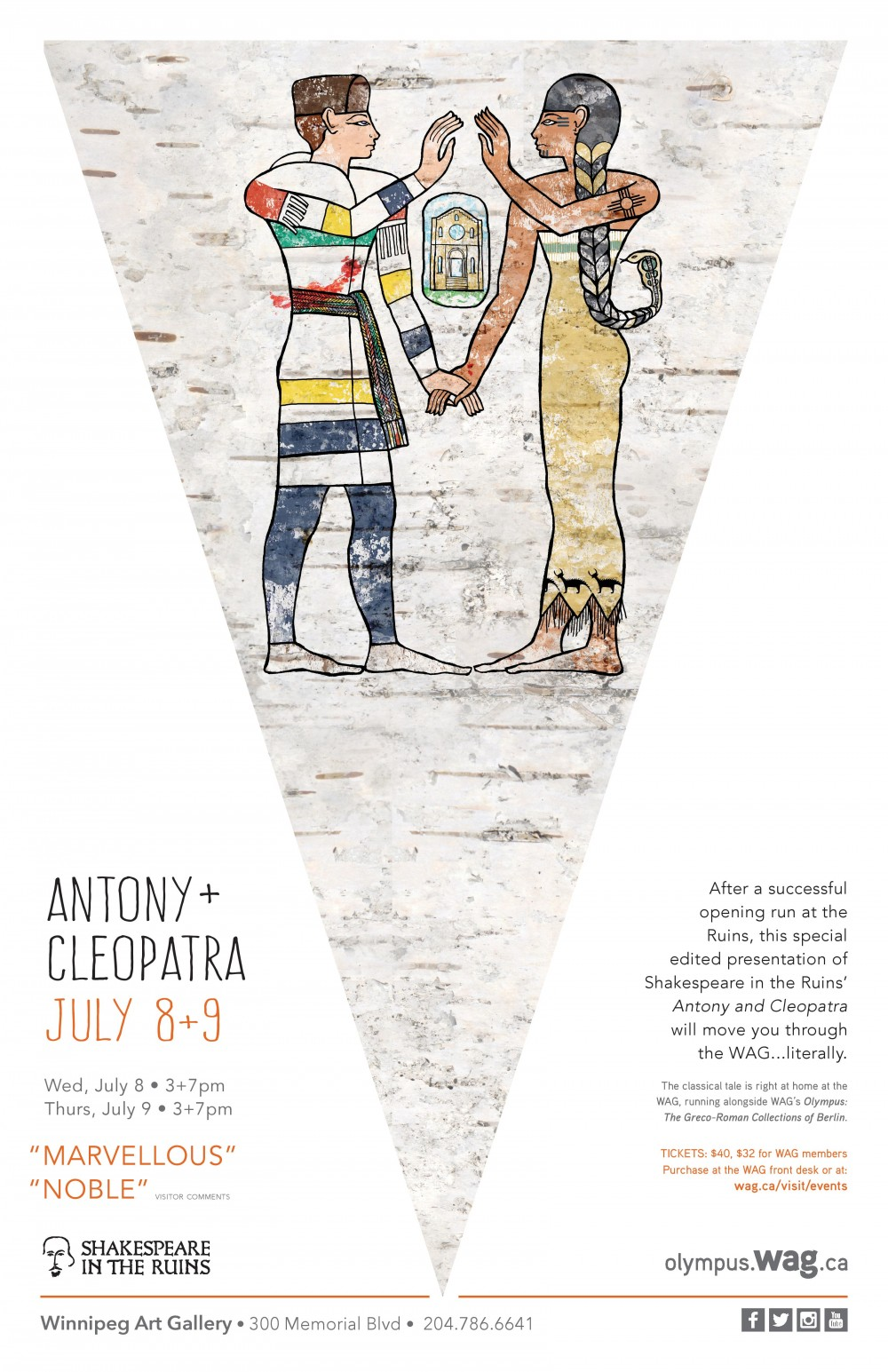 Stripped Down Antony and Cleopatra Production Poster