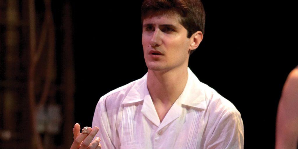 Rodrigo as Bassanio in SIR's Merchant of Venice 2007